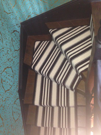 portfolio carpet black and white striped stair carpet 3
