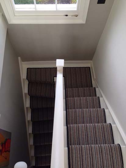 portfolio carpet stripey staircase grey 03