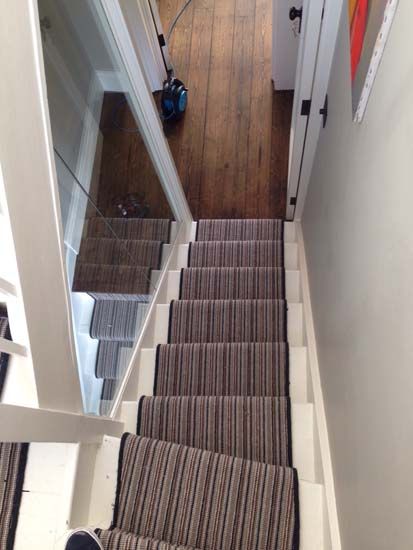 portfolio carpet stripey staircase grey 04