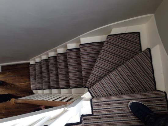 portfolio carpet stripey staircase grey 05