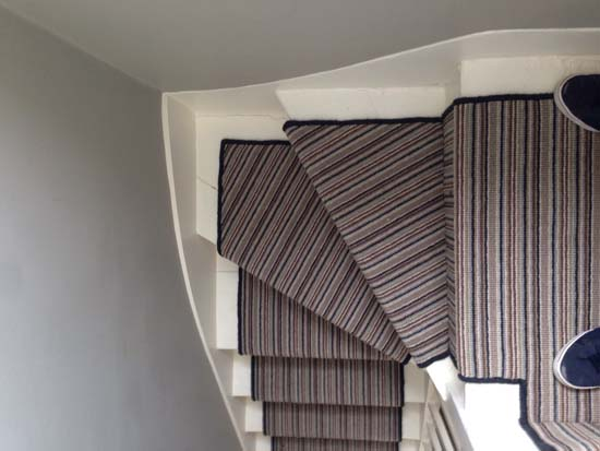 portfolio carpet stripey staircase grey 06