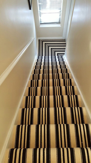 portfolio carpets black and white stripe stairs 01