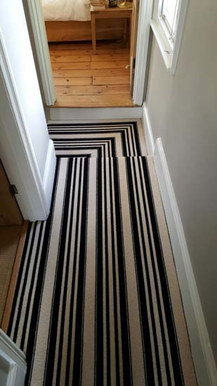 portfolio carpets black and white stripe stairs and landings 02