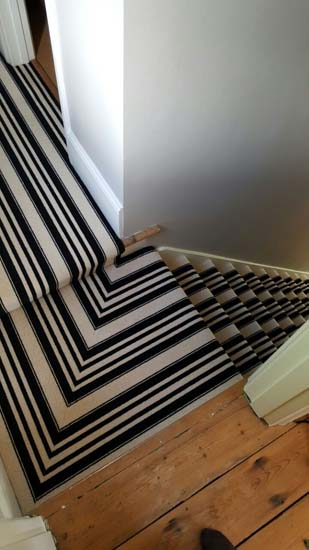 portfolio carpets black and white stripe stairs and landings 03