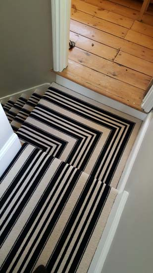 portfolio carpets black and white stripe stairs and landings 05