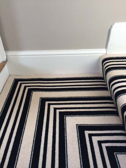 portfolio carpets black and white stripe stairs and landings 07