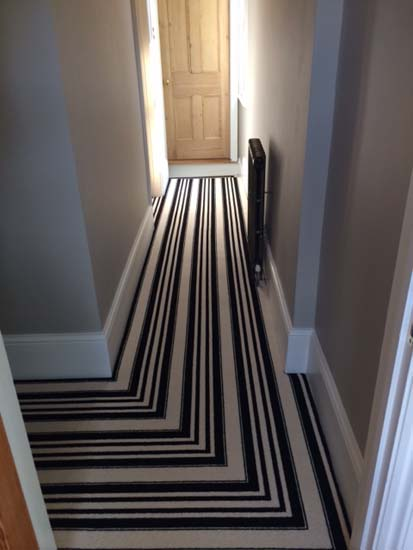 portfolio carpets black and white stripe stairs and landings 08