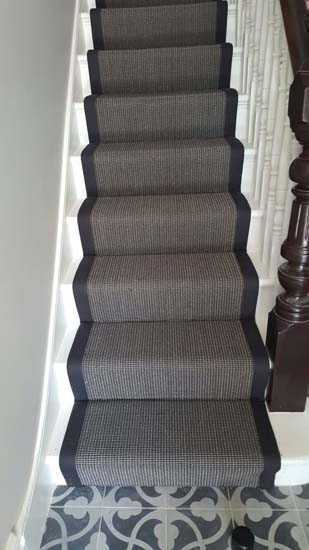 portfolio carpets black stair runner with black border carpet 01