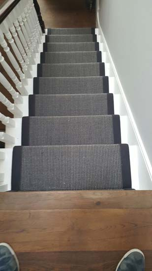 portfolio carpets black stair runner with black border carpet 02