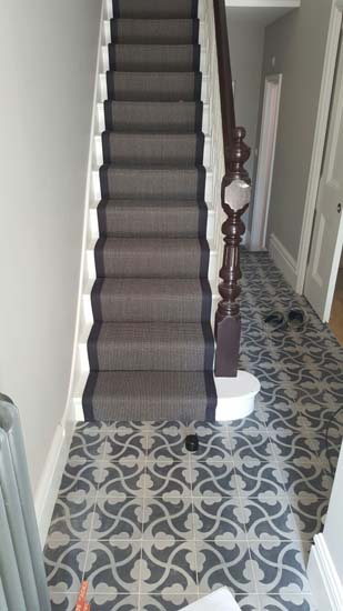 portfolio carpets black stair runner with black border carpet 03