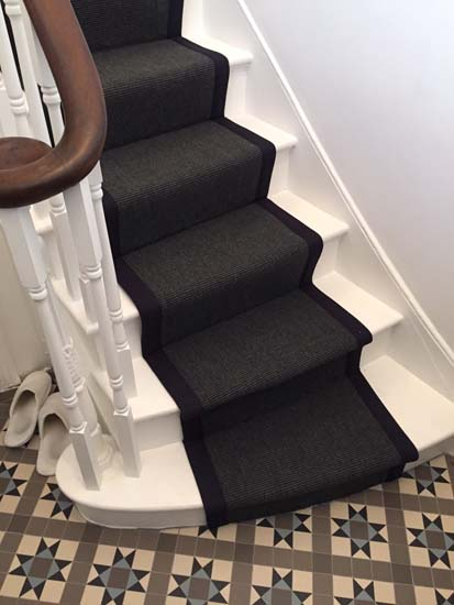 portfolio carpets black stairs black binding 05