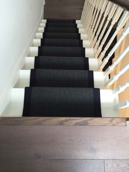 portfolio carpets black stairs black binding 08