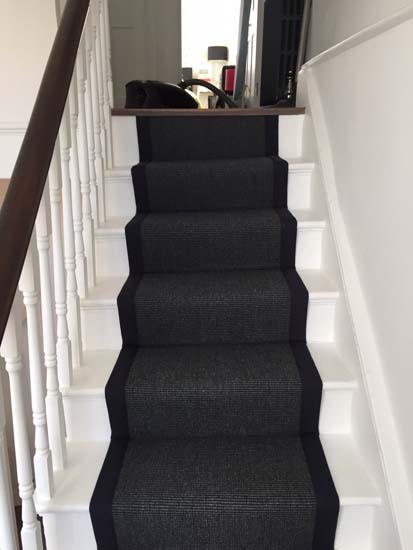 portfolio carpets black stairs black binding 09