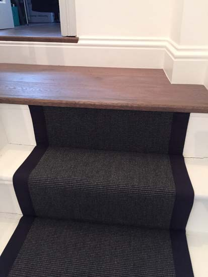 portfolio carpets black stairs black binding 14