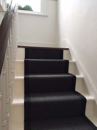 portfolio carpets black stairs black binding 15