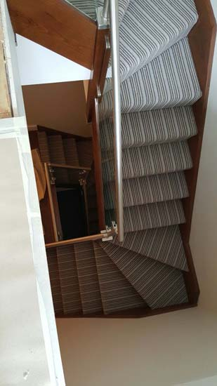 portfolio carpets blue striped stair carpet 01