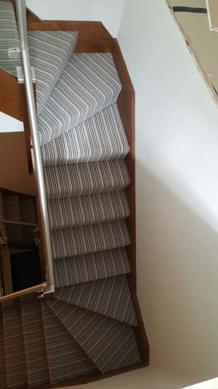 portfolio carpets blue striped stair carpet 02