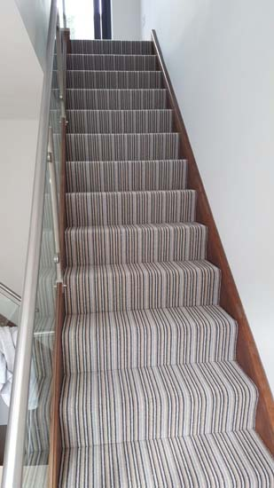 portfolio carpets blue striped stair carpet 05
