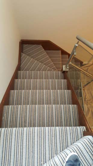 portfolio carpets blue striped stair carpet 07