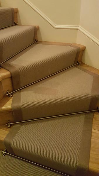 portfolio carpets brown stair runner with border 02