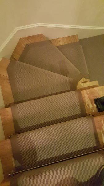 portfolio carpets brown stair runner with border 04