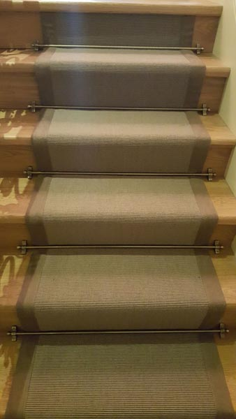 portfolio carpets brown stair runner with border 05