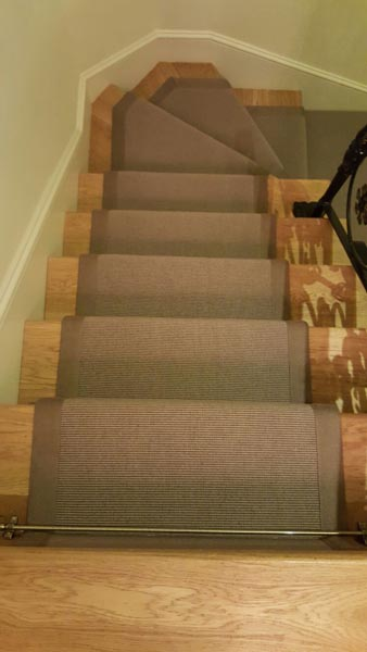 portfolio carpets brown stair runner with border 06