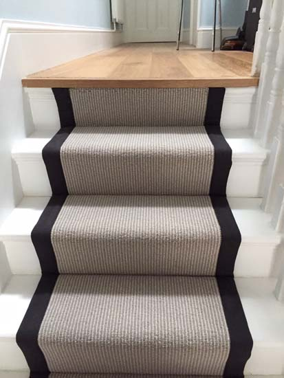 portfolio carpets grey carpet black border stairs 01