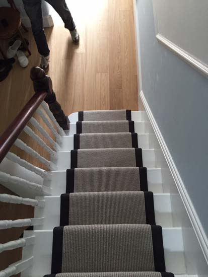 portfolio carpets grey carpet black border stairs 03