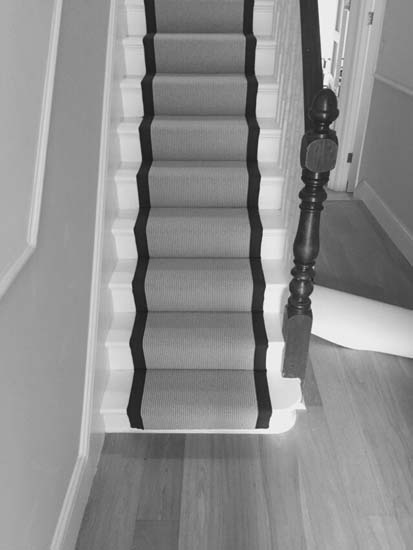 portfolio carpets grey carpet black border stairs 04