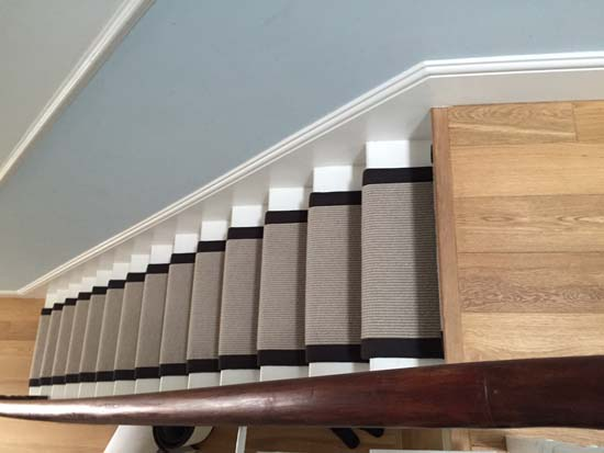 portfolio carpets grey carpet black border stairs 05