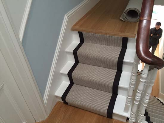 portfolio carpets grey carpet black border stairs 06