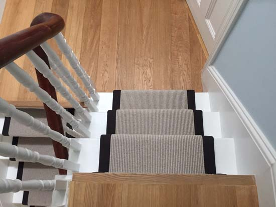 portfolio carpets grey carpet black border stairs 07