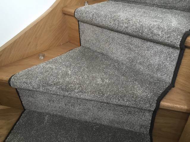 portfolio carpets lush grey carpet runner on stairs 03