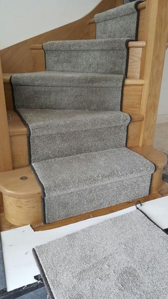 portfolio carpets lush grey carpet runner on stairs 04