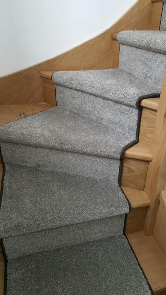 portfolio carpets lush grey carpet runner on stairs 07