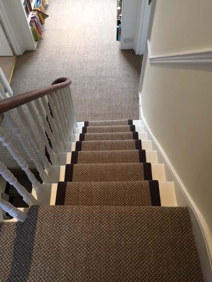 portfolio carpets sisal stairs black border 01