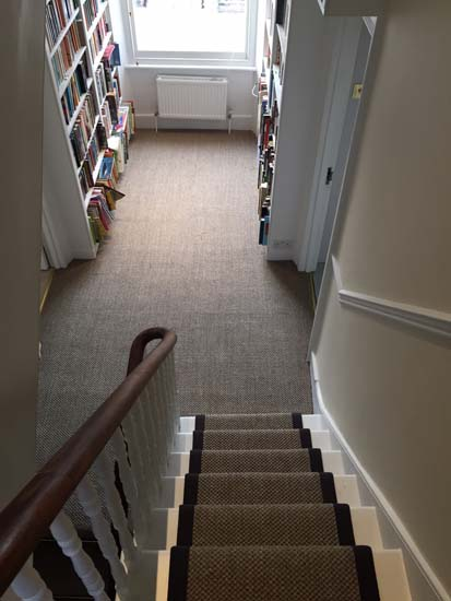 portfolio carpets sisal stairs black border 02