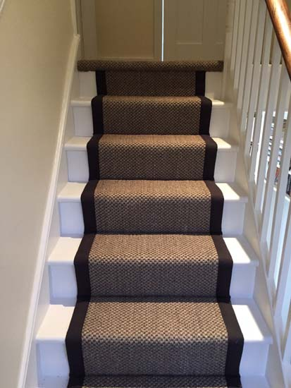 portfolio carpets sisal stairs black border 04