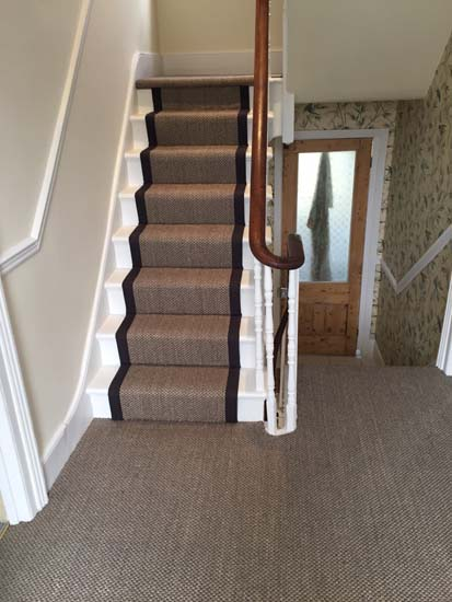 portfolio carpets sisal stairs black border 05