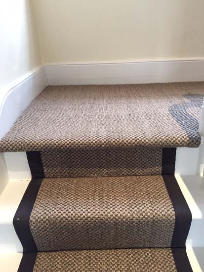 portfolio carpets sisal stairs black border 06