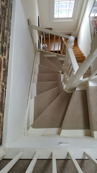 portfolio carpets stairs beige carpet with border 03