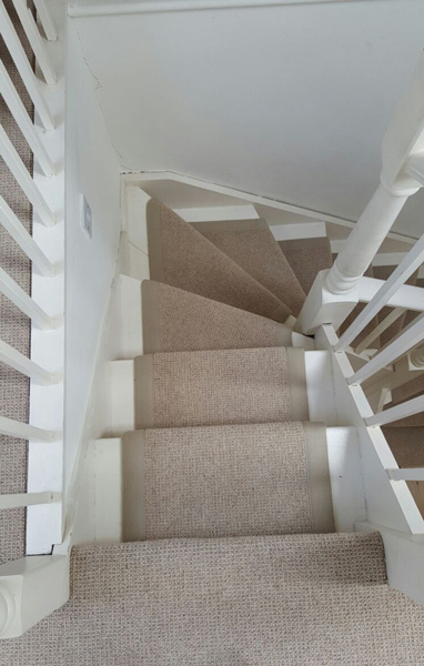 portfolio carpets stairs beige carpet with border 04