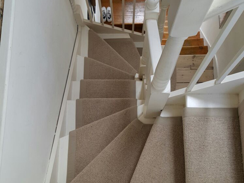 Stairs Beige Carpet The Flooring Group