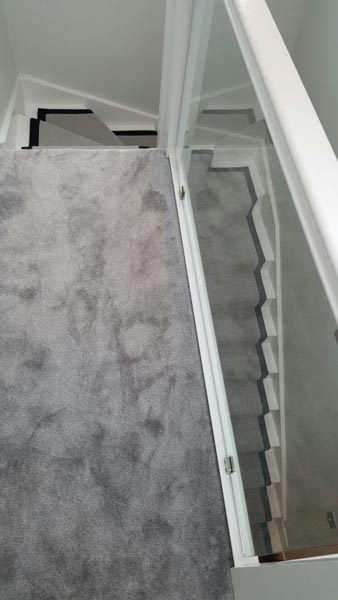 portfolio carpets stairs grey carpet runner with balck border 01