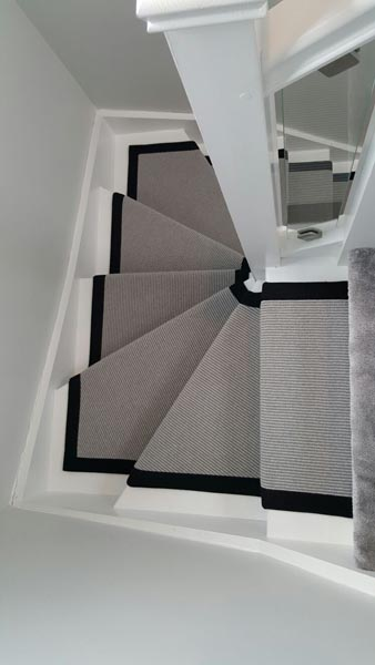 portfolio carpets stairs grey carpet runner with balck border 04
