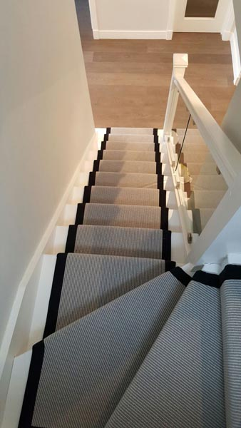 portfolio carpets stairs grey carpet runner with balck border 08
