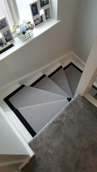 portfolio carpets stairs grey carpet runner with balck border 09
