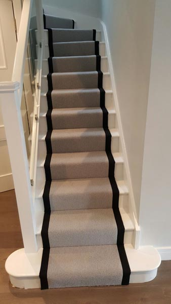 portfolio carpets stairs grey carpet runner with balck border 10