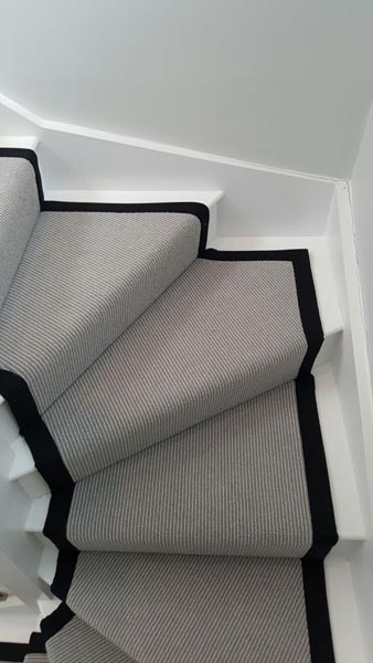 portfolio carpets stairs grey carpet runner with balck border 13